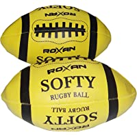 Roxan Soft Rugby Ball for Kids,synthatic Soft Rugby Ball,Full Family Fun Soft Rugby Ball, Indoor Game & Outdoor Game Kids Soft Rugby Ball