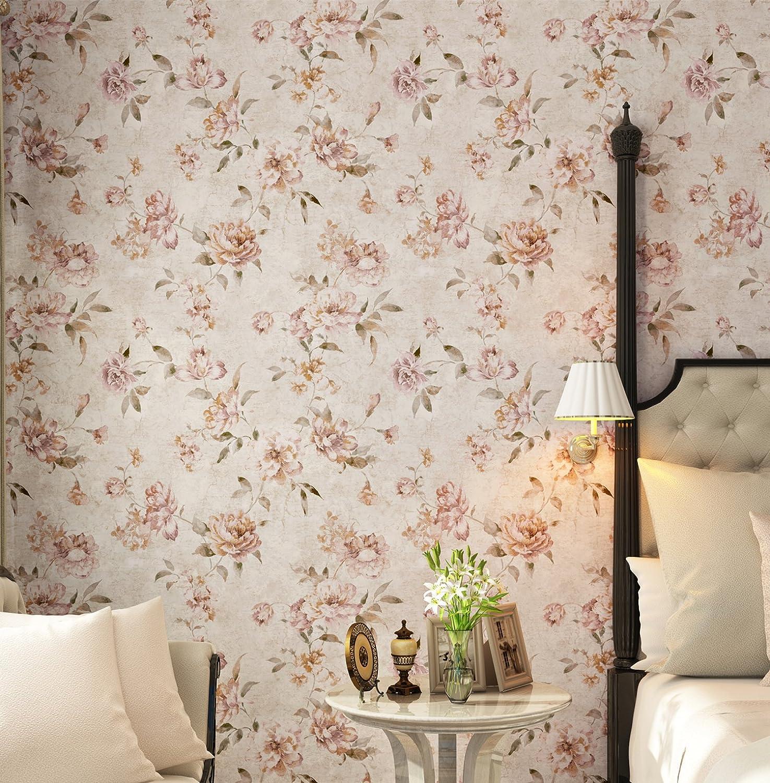 Birwall Wallpaper Countryside Floral Wallpaper in Bedroom Livingroom ...