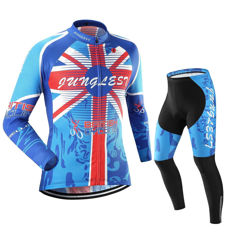 Cycling Jersey Set Wen長袖( S ~ 5 X L、オプション:よだれかけ、3dパッド) n7 B00SF5K5XO  種類: セット 5XL (191-198cm/103-115kg)