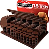 X-PROTECTOR Premium Ultra Large Pack Felt Furniture Pads 181 Piece! Felt Pads Furniture Feet All Sizes – Your Best Wood Floor