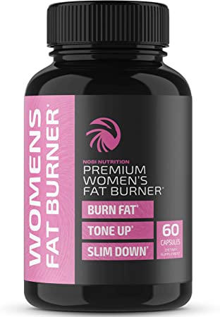 Nobi Nutrition - Premium Fat Burners for Women - Weight Loss Supplements - Diet Pills, Carb Blockers, Metabolism Booster & Appetite Suppressant - Thermogenic Weight Loss Pills for Women - 60 Capsules