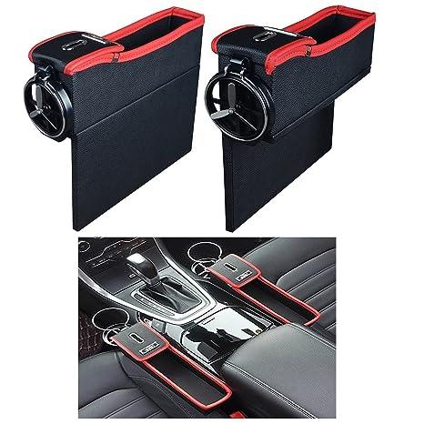 NEEGO Bolsillo Lateral de la Consola con Monedero y Portavasos Organizador de Asiento de Carro Caddy