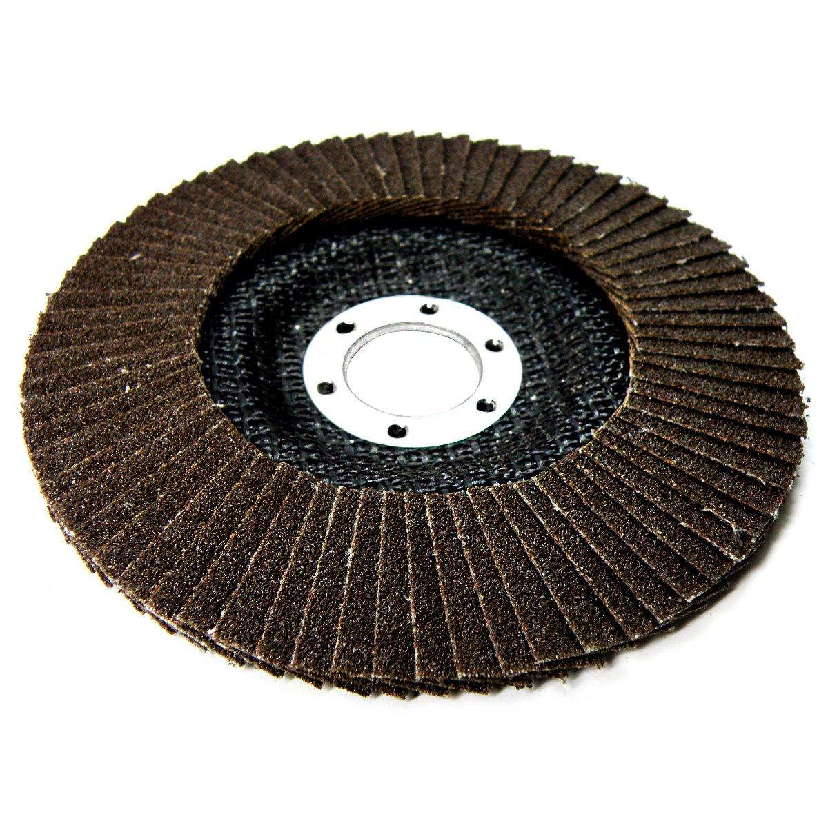 Grain 80 S/&R 10 Disque Abrasifs 125 /à Lamelles pour Meuleuse dAngle Lot 10 disques
