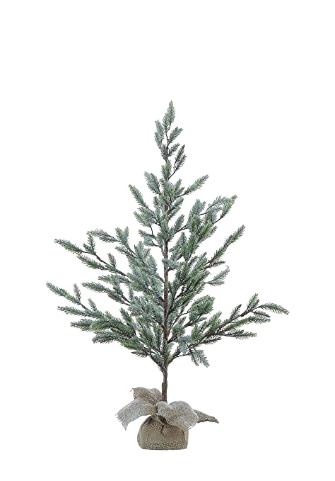 Small Pine Tree in Grey Metal Pot