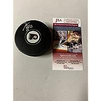 $75 » Kevin Hayes Autograph Signed Flyers Logo Puck JSA - Autographed NHL Pucks