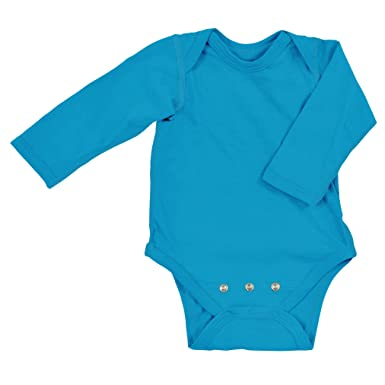 Amazon.com  i play. Baby Long Sleeve Organic Adjustable Bodysuit ... a838acd5a1b6