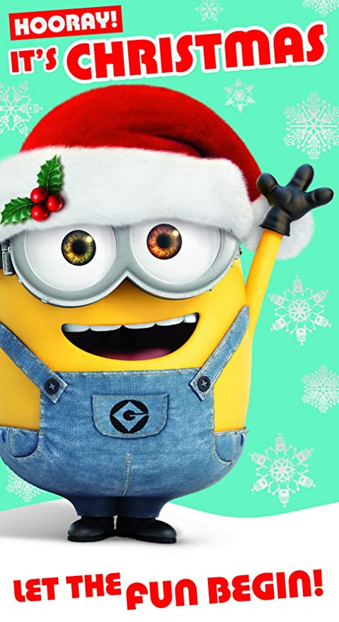 fbecdf68a661f Amazon.com  Despicable Me Minion Hooray! Christmas Card  Office Products
