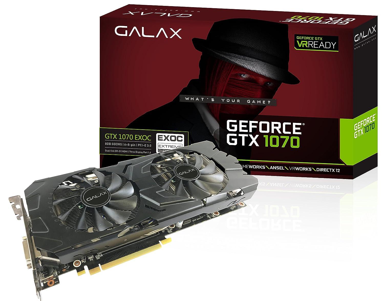 GALAX 70NSH6DHL4EK GeForce GTX 1070 8GB GDDR5 - Tarjeta gráfica ...