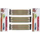 DEYUE 3 Set Standard Jumper Wires Plus 2 Set U Shape Bread Board Jumper Cable Kit w Box | M/F, M/M, F/F - Each 40pin Electronic Jumpers Wire | 140 Pcs of Assorted Breadboard Jumper Cable Wire Kit