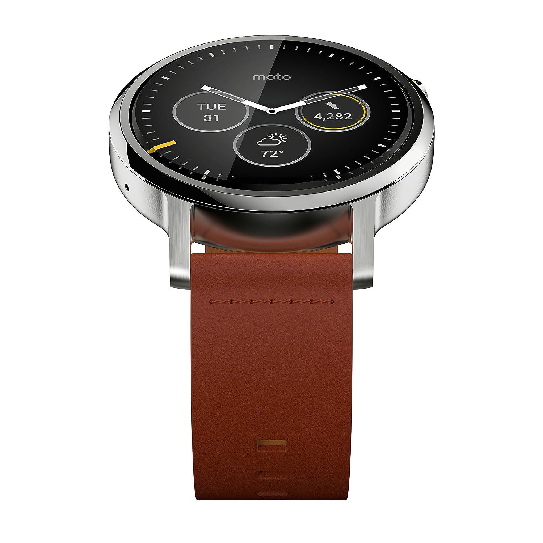 Motorola Moto 360 (2ème génération) Montre connectée Android Wear 46 mm Cognac: Amazon.fr: High-tech
