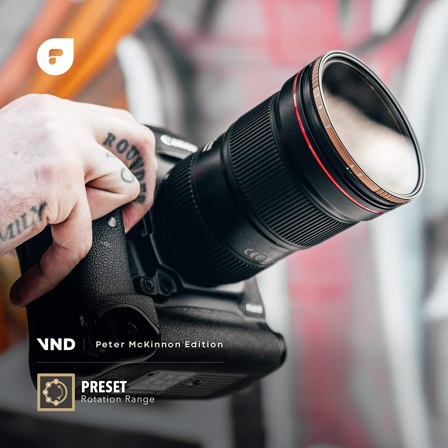 6 to 9 Stop PolarPro 67mm Variable ND Filter Peter McKinnon Edition