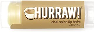 product image for Hurraw! Chai Spice Lip Balm, 4.8g/.17oz: Organic, Certified Vegan, Cruelty and Gluten Free. Non-GMO, 100% Natural Ingredients. Bee, Shea, Soy and Palm Free. Made in USA