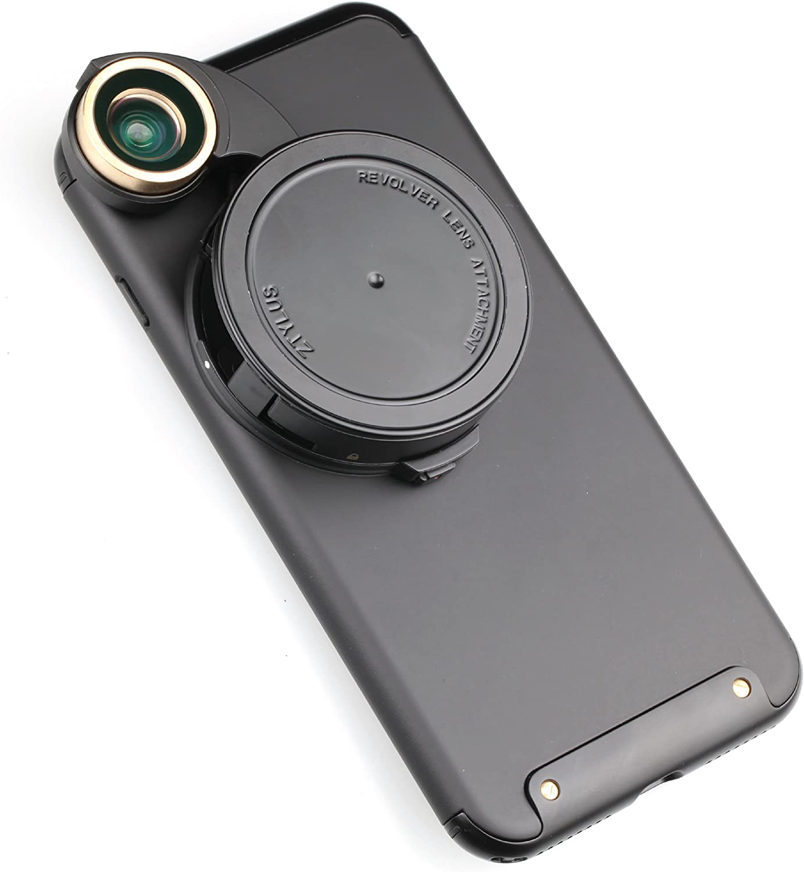 Ztylus 4-in-1 Revolver Lens Smartphone Camera Kit for Apple iPhone 7 Plus: Super Wide Angle, Macro, Fisheye, CPL, Protective Case, Phone Camera, Photo Video (Black)
