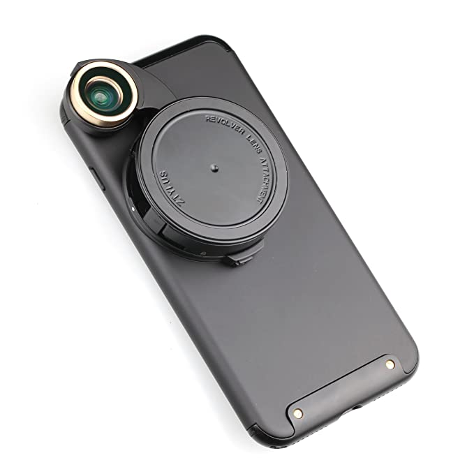 huge discount edaae 4f469 Ztylus 4-in-1 Revolver Lens Smartphone Camera Kit for Apple iPhone 7 Plus:  Super Wide Angle, Macro, Fisheye, CPL, Protective Case, Phone Camera, Photo  ...