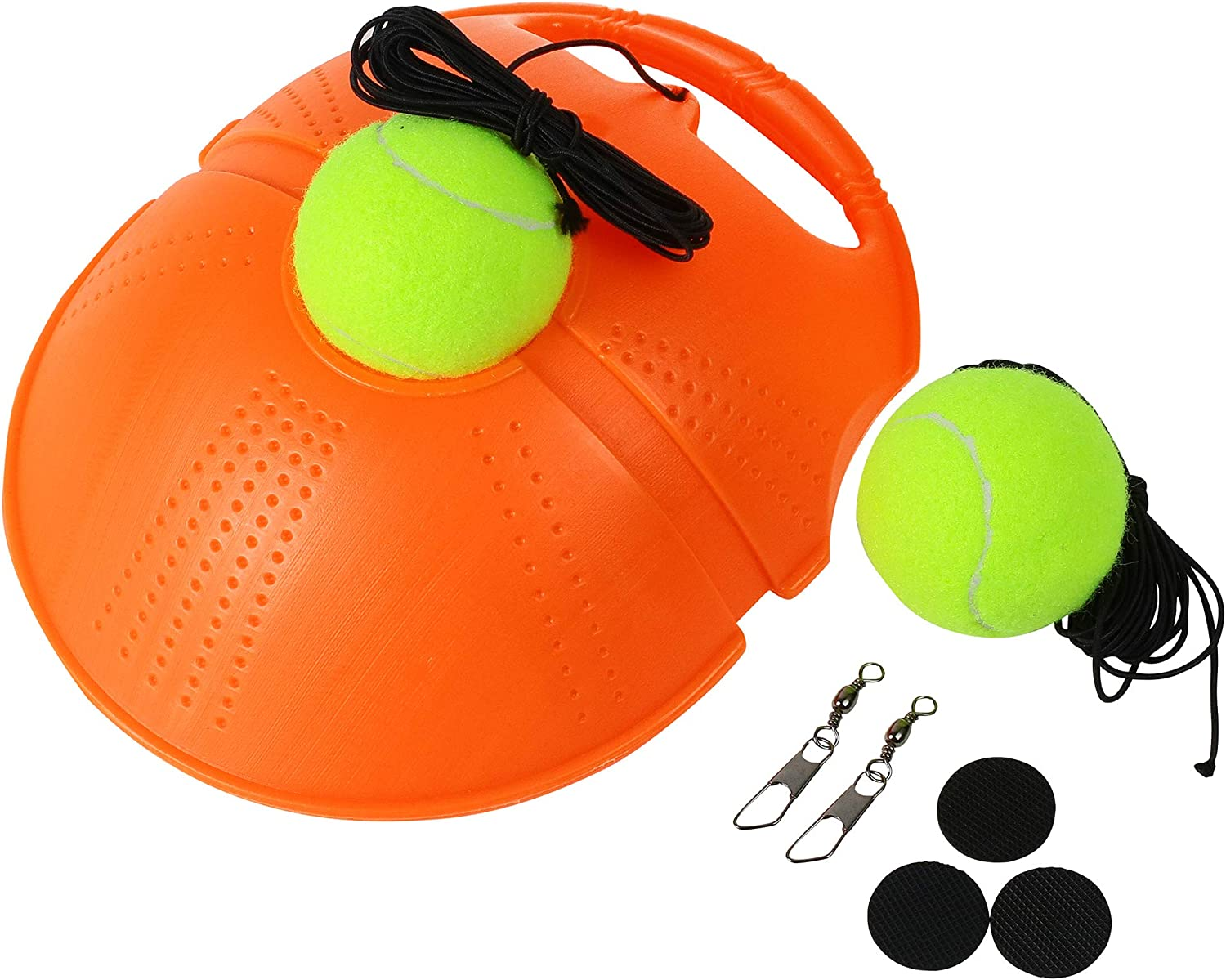XFITPRO SET - Springen Tennis Trainer Rebound, Tennis Self Trainer Tool, Tennis Practice Rebounder, Solo Tennis Trainer Rebound Ball With String, Extra 2 Strong Return Strings 2 Balls & Carry Mesh Bag : Sports & Outdoors
