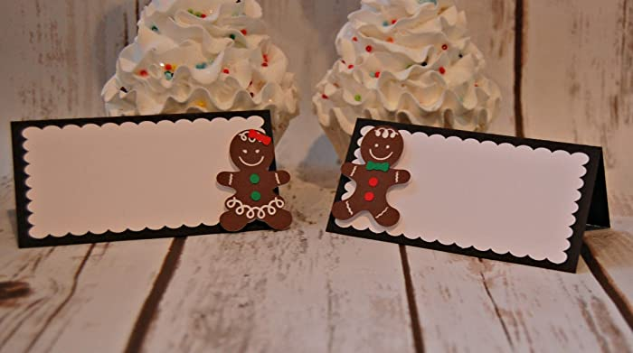 gingerbread party food buffet name tags christmas party decor holiday birthday name tags