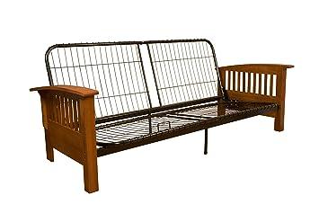 Amazon Com Brentwood Mission Style Futon Sofa Sleeper Bed Frame