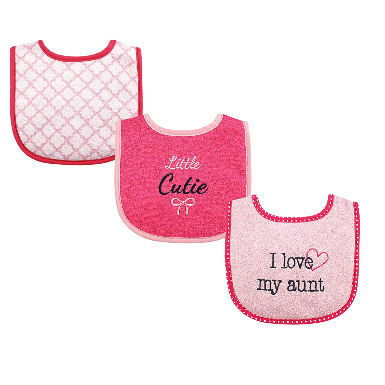 Boy Aunt One Size Luvable Friends Unisex Baby Cotton Drooler Bibs with Fiber Filling