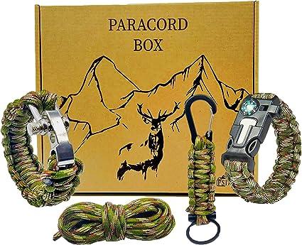 Outdoor Survival Paracord Armband Bracelet Survivalarmband Überlebensarmband