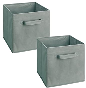 Amazon Com Closetmaid 18657 Cubeicals Fabric Drawer Gray 2 Pack