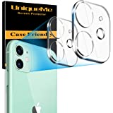 [2 Pack] UniqueMe Camera Lens Protector Compatible for iPhone 11 (6.1 inch) / iPhone 12 mini (5.4 inch) Tempered Glass, 9H [N