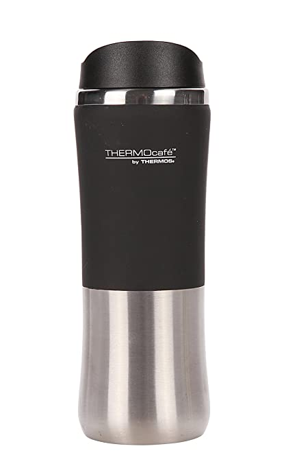 Thermos Thermocafe by 121477 - Termo (Acero Inoxidable, Impermeable, 300 ml), Color Negro