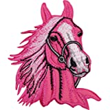 Caballo de hierro//para coser en la ropa parche chaqueta camisa bolsa poni equitaci/ón bordado Badge