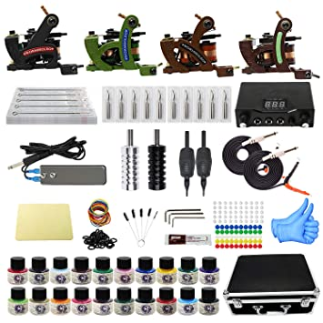 Amazon.com: Tattoo Kit with Case Complete Tattoo Gun Kit 4pcs ...
