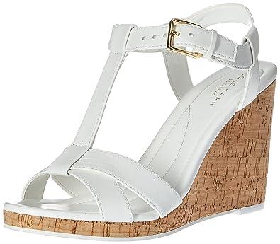 Cole Haan Womens Ayla II Wedge Sandal, Optic White, 7.5 UK