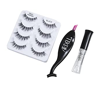 Maven Gifts: Ardell Multipack Demi Wispies Fake Eyelashes with Brush On Lash Adhesive and Dual