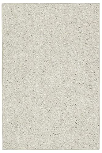 Bright House Solid Color Area Rug Off White – 5 x8