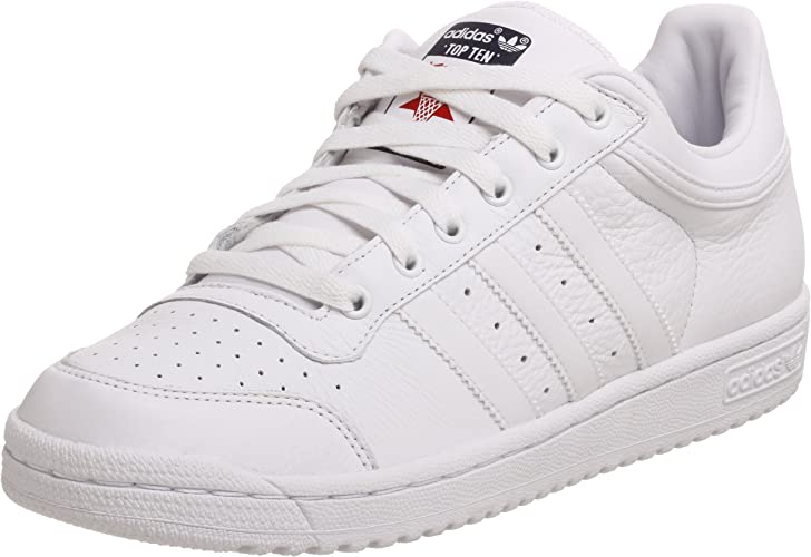 bicicleta elección Prueba  adidas Originals Men's Top Ten Lo Sneaker White Size: 6.5: Amazon.co.uk:  Shoes & Bags
