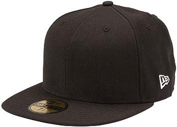 f92704aa461b New Era Blanks 59FIFTY Schlichte Baseballkappe, einfarbig, Herren, schwarz  - schwarz