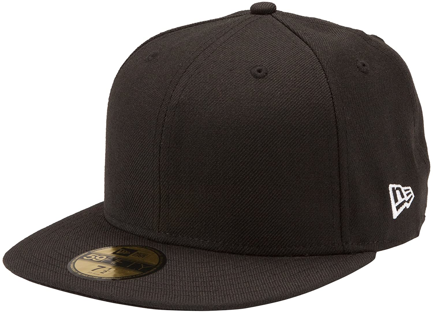 Amazon.com   New Era Original Basic Black 59Fifty Hat   Sports Fan Baseball  Caps   Clothing fdc02a976
