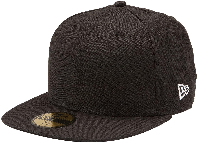 db3c9cf339094 Amazon.com   New Era Plain Tonal 59Fifty Fitted Hat (Black) Men s ...
