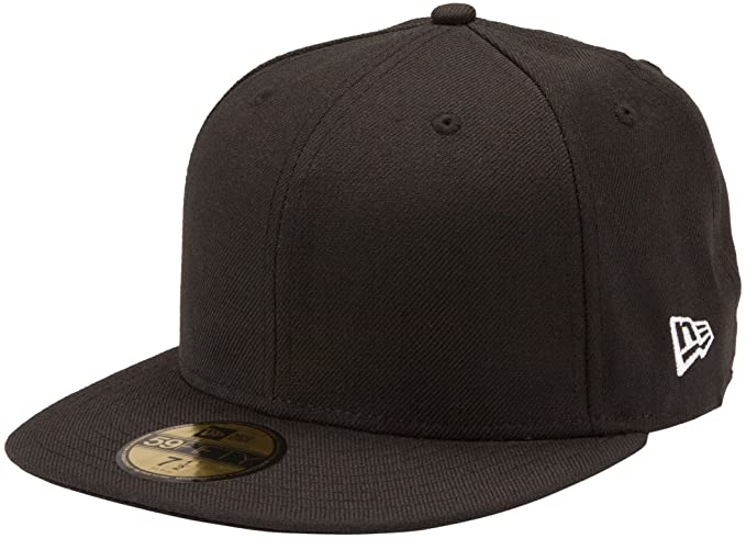 Amazon.com   New Era Original Basic Black 59Fifty Hat   Sports Fan ... 5b8b61a68cb