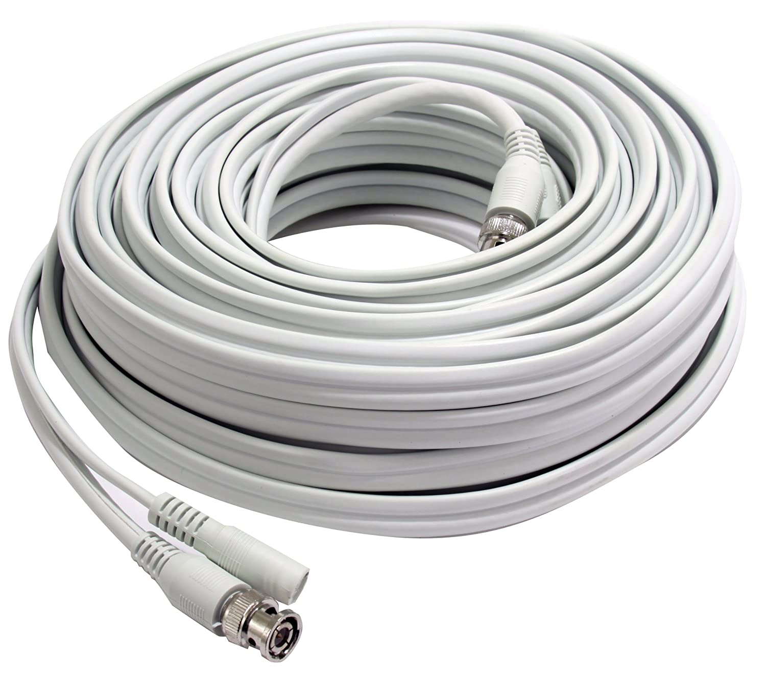 Frist Alert BNC-50 RG59 Coax Video and DC Power Cable, 50-Feet ...