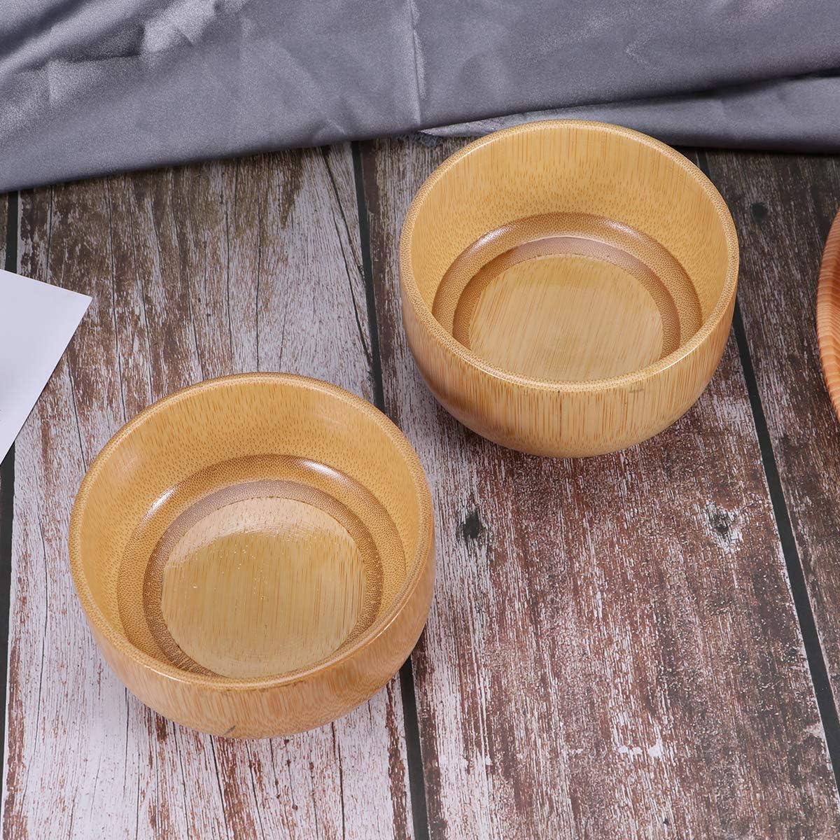 Hemoton 2 Piezas Cuencos de bamb/ú carbonizado Natural antimoho taz/ón de Servir de Comida de bamb/ú Resistente al Calor taz/ón de Ensalada antica/ída para Alimentos de Frutas