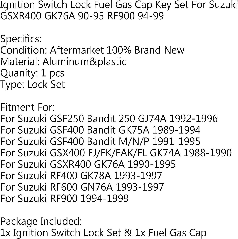 serrure pour S-U-Z-U-K-I GSXR400 GK76A 90-95 RF900 94-99 Artudatech Cl/é dallumage avec bouchon de carburant pour moto bouchon de r/éservoir de carburant interrupteur dallumage de moto