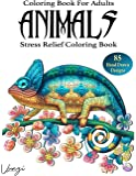 Animals Coloring Book For Adults: 85 Beautiful Animals Designs for Stress Relief and Relaxation (Adult Coloring Books…