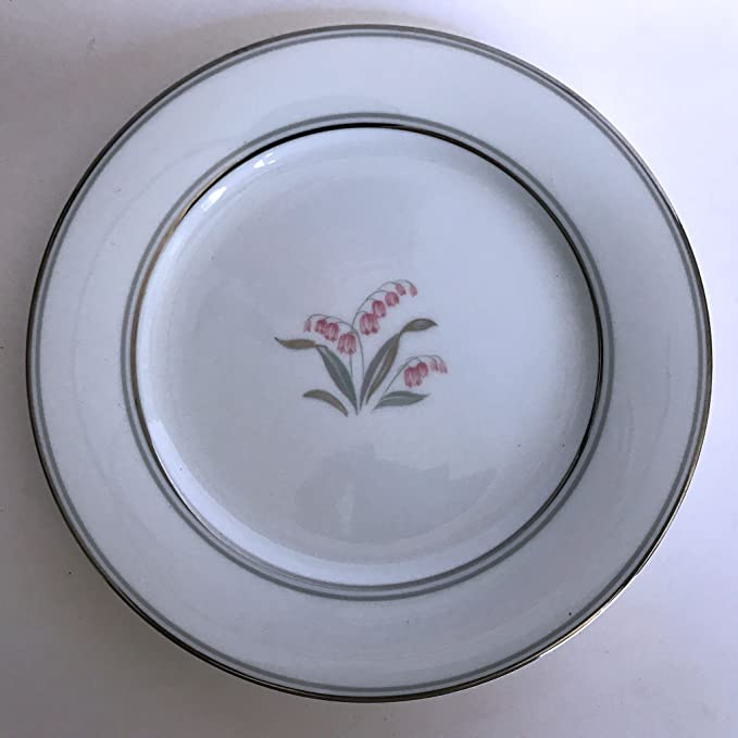 Crest Pattern Platinum Rim Set of 4 Noritake 6.25 Bread Plates 5421 in Excellent Condition!