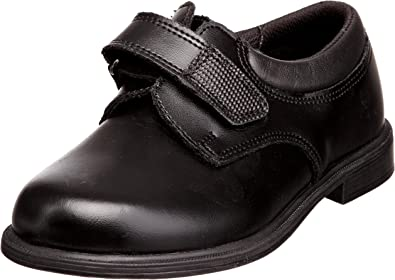 """Toughees /""""Class/""""  Boys Leather Easy Fastening Strap School Shoes Brown"""