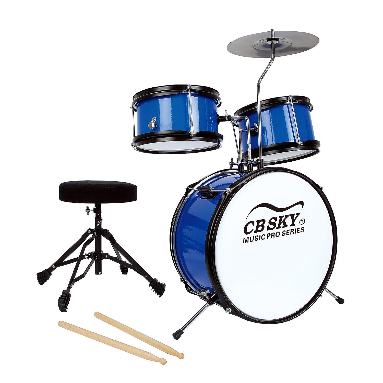 CB Sky 5-piece Junior Drum Set, Kids Percussion Instrument/Kids Musical Toys/Kids Musical Instrument MD318