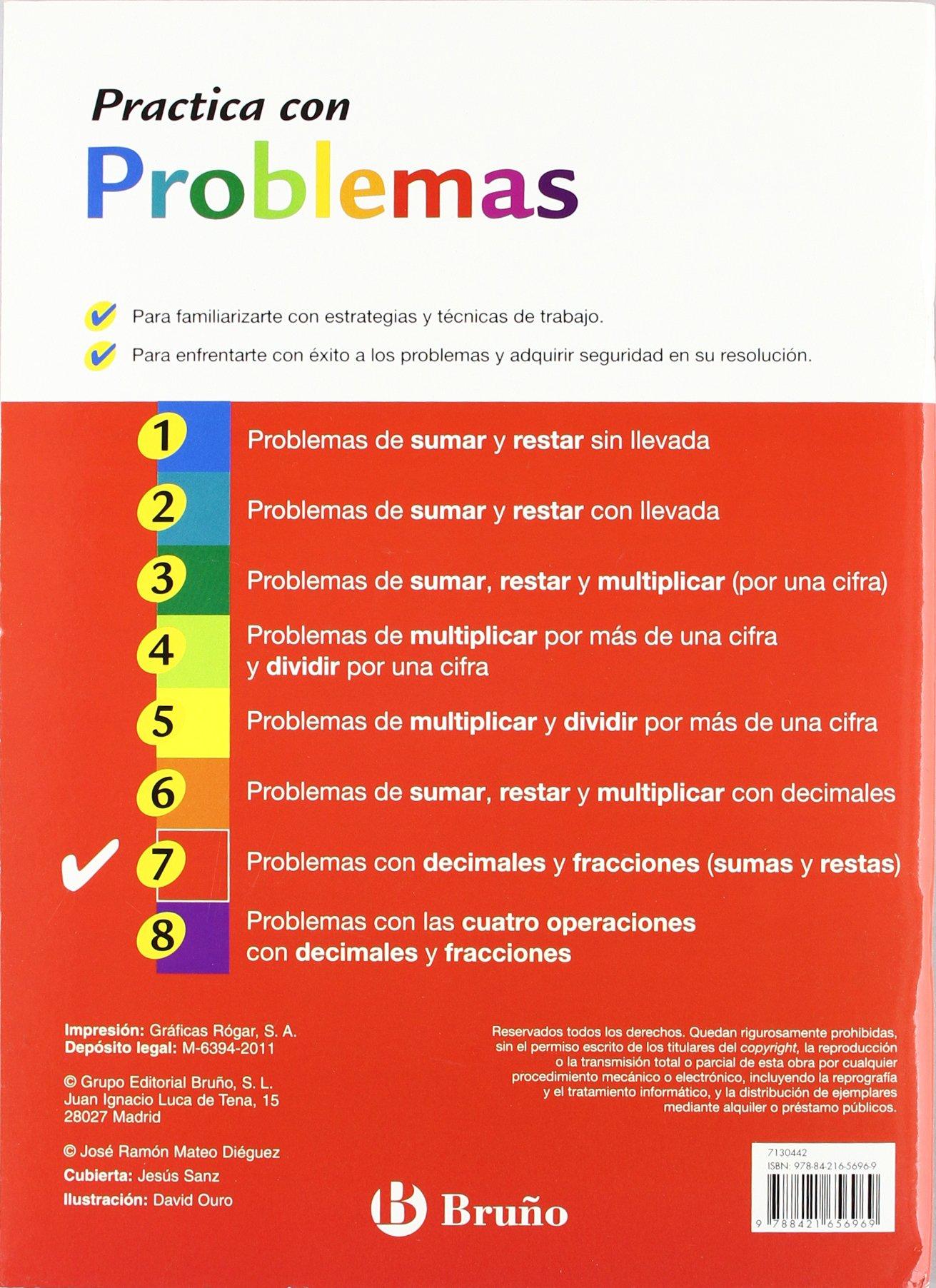 7 Practica problemas con decimales y fracciones sumas y restas Castellano -  Material Complementario - Practica Con Problemas - 9788421656969:  Amazon.es: ...