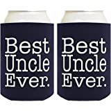 Funny Can Coolie Best Uncle Ever Gift 2 Pack Can Coolies Drink Coolers Navy