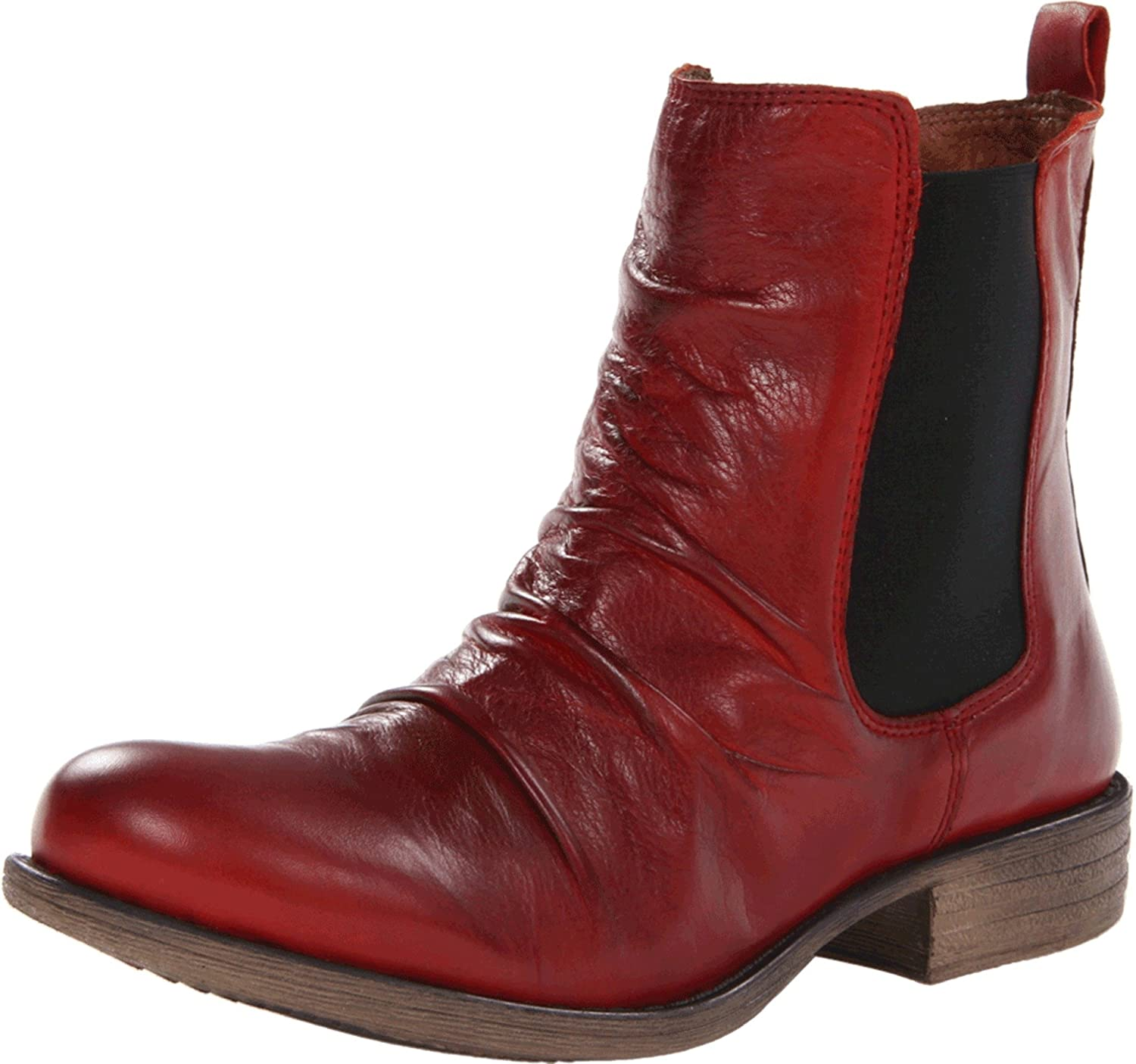 Miz Mooz Women's Lissie Ankle Boot B00CL41LSI 7.5 B(M) US|Red
