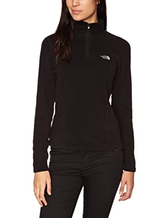 cd2c97a9b1 The North Face Women s 100 Glacier 1 4 Zip Pullover Fleece - TNF Black