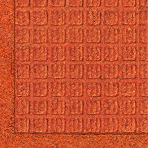 M+A Matting - 280670023 WaterHog Fashion Commercial-Grade Entrance Mat, Indoor/Outdoor Charcoal Floor Mat 3' Length x 2' Width, Orange by M+A Matting