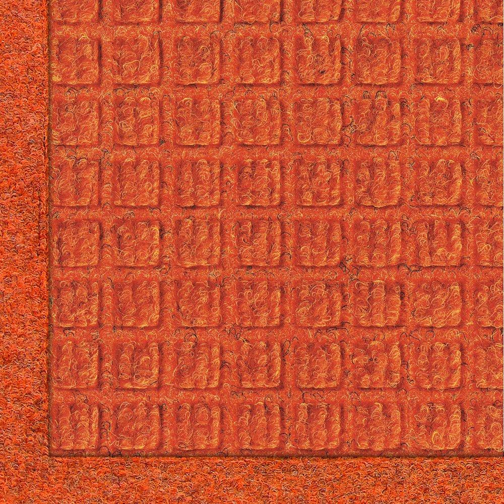orange 10' Length x 4' Width M+A Matting 280 WaterHog Fashion Polypropylene Fiber Entrance Indoor Outdoor Floor Mat, SBR Rubber Backing, 12' Length x 3' Width, 3 8  Thick, Charcoal