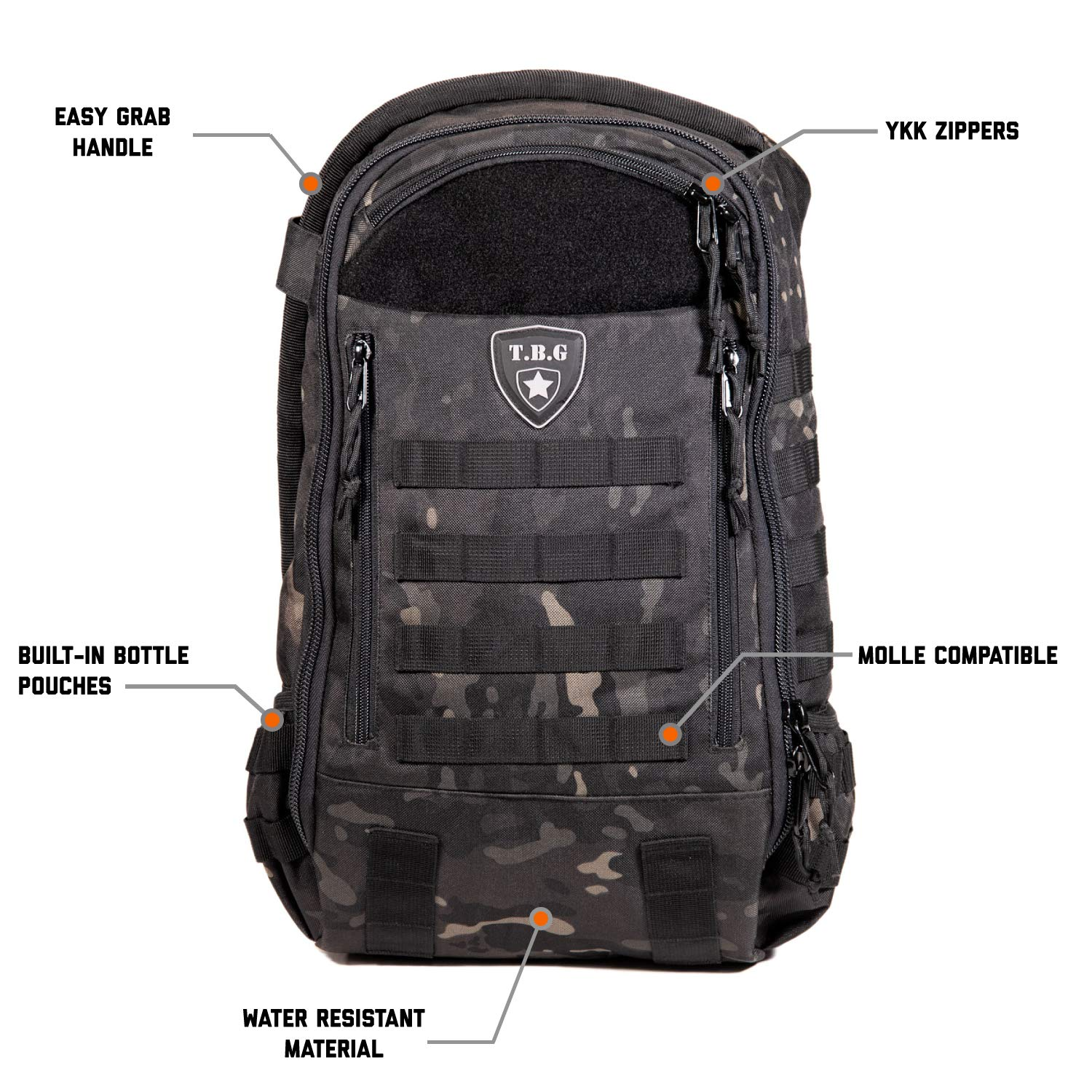 Tactical Baby Gear Daypack 3.0 Tactical Diaper Bag Backpack and Changing Mat (Black Camo) by Tactical Baby Gear (Image #2)